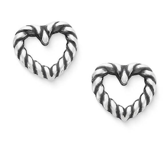 James Avery Jewelry Twisted Wire Heart Ear Post Poshmark